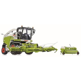 Wiking Claas Jaguar 860 mit Orbis 750 und Pick Up 300 1:32